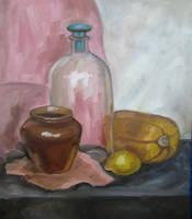 Pitcher and lemon by Kaitana