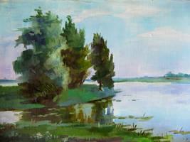 Landscape etude by Kaitana