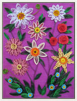 Quilling flowers by Kaitana