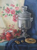 Stillife with samovar by Kaitana