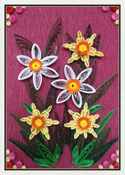 Quilling narcissuses by Kaitana