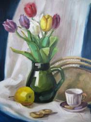 Still Life With Tulips by Kaitana