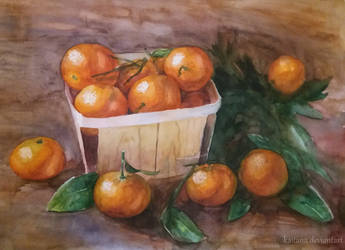Mandarins in the box by Kaitana