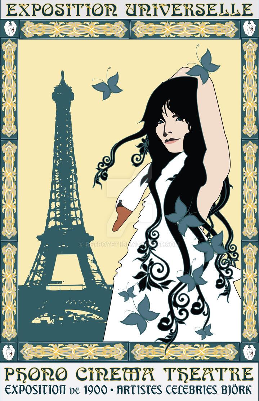 Art Nouveau Bjork Poster by RetroYeti on DeviantArt