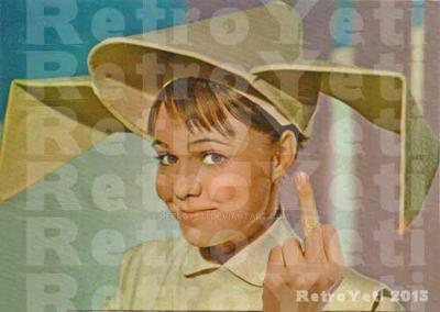 Flying Nun Flipping the Bird by RetroYeti