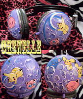 Bubble Pokemon Headphones by Iheartnella