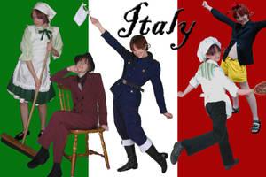 Hetalia Italy cosplay card by Kasandra-Callalily
