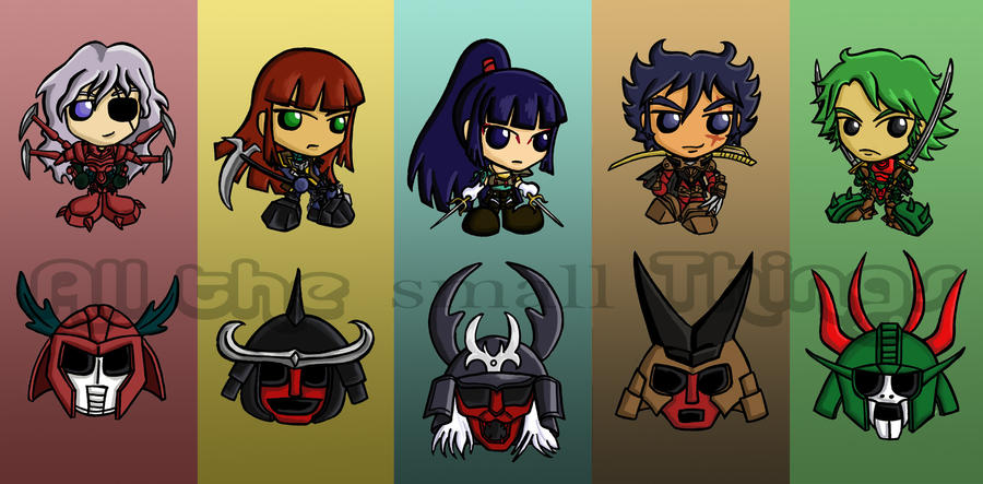 Ronin warroir warlords chibis by kasandra callalily on - Ronin warriors warlords ...