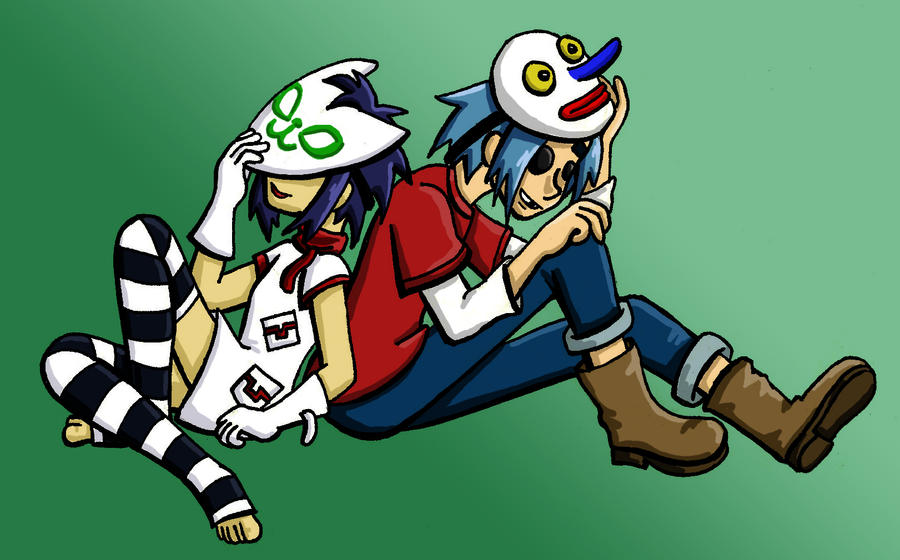 Noodle and 2D by Kasandra-Callalily