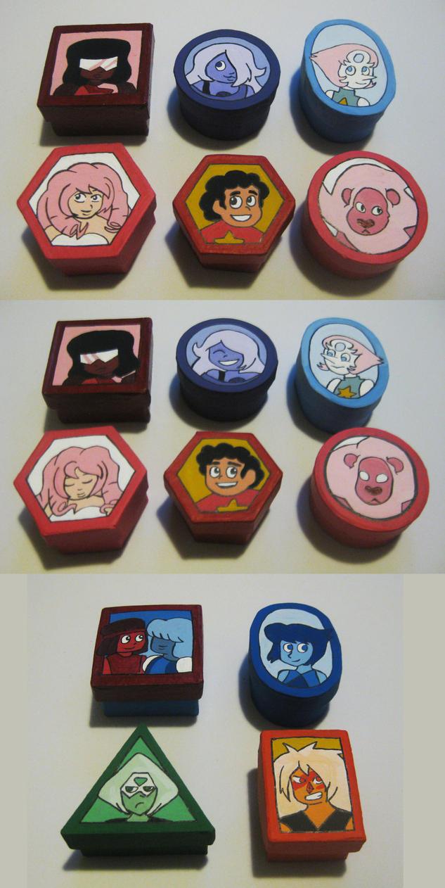 Steven Universe mini boxes by Kasandra-Callalily