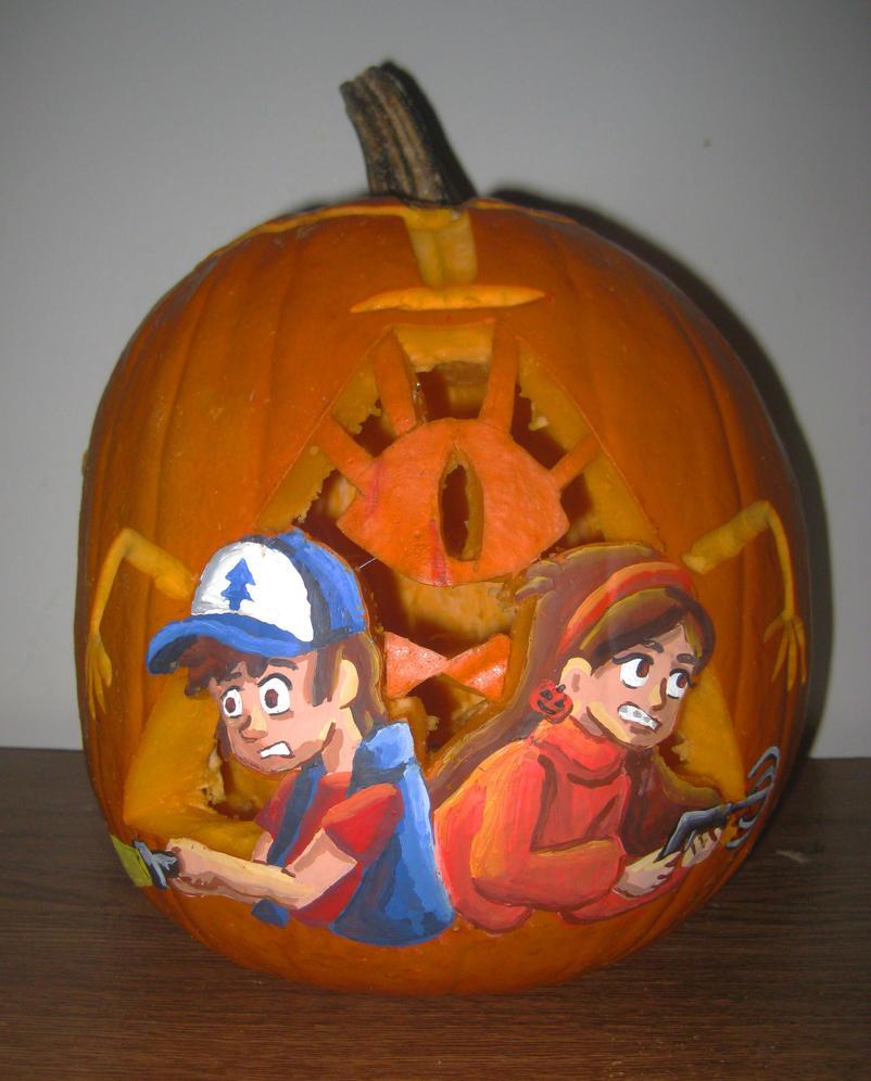 Gravity Falls Pumpkin by Kasandra-Callalily