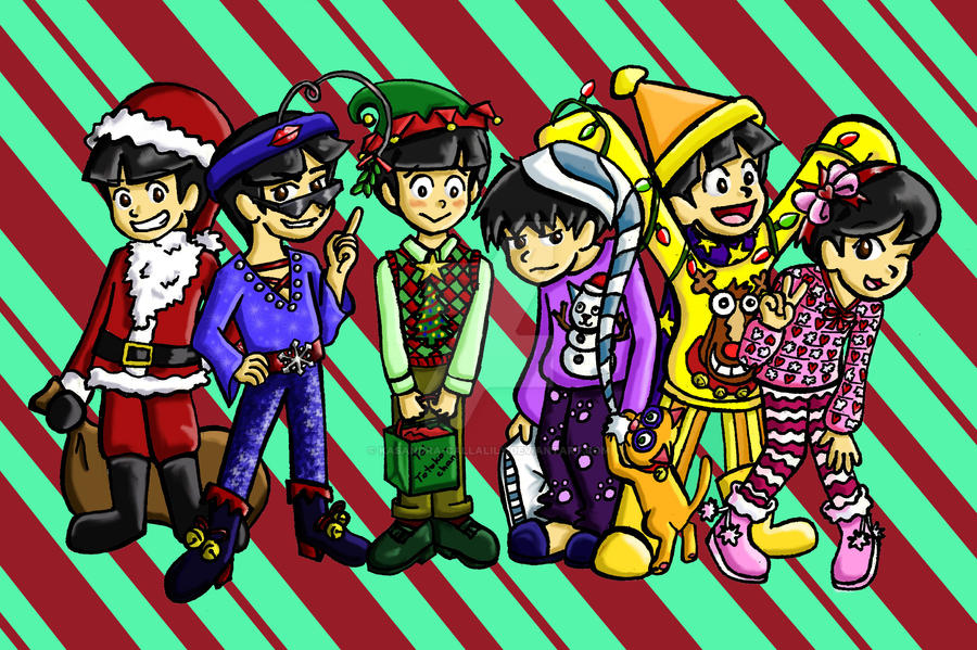 Merry Christmas from the Matsus! by Kasandra-Callalily