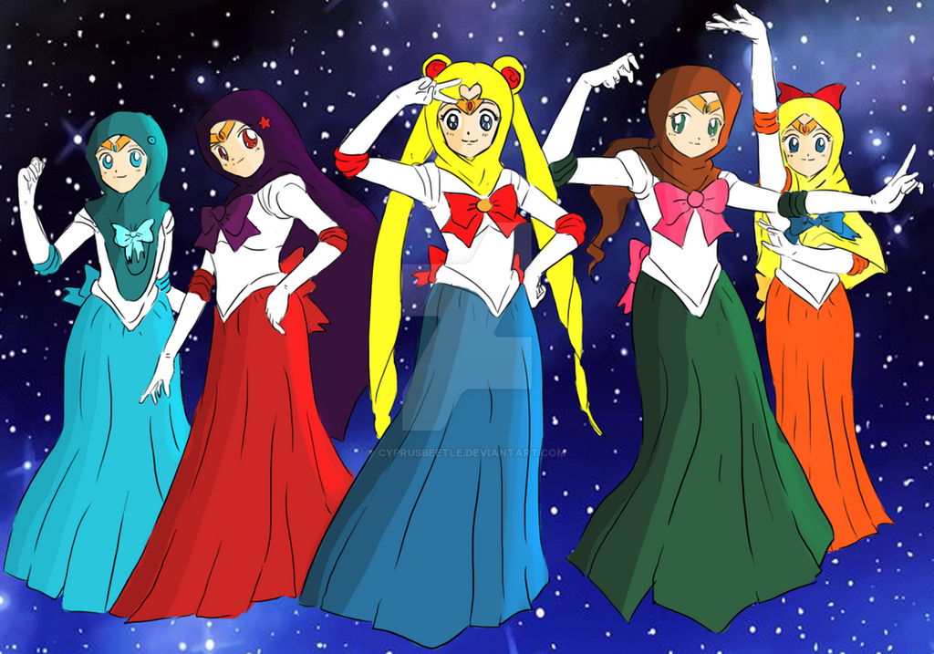 Hijabi Sailor Scouts by CyprusBeetle