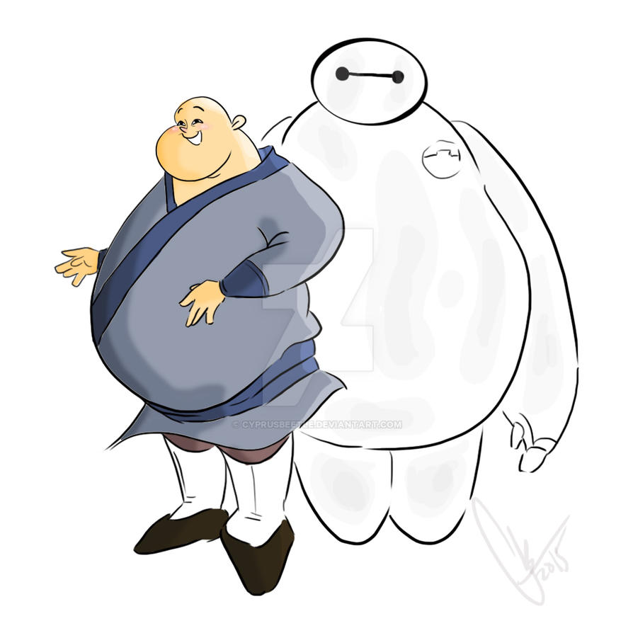 Chien Po and Baymax by CyprusBeetle