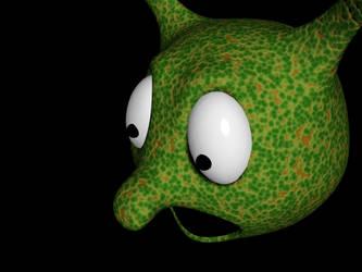 First 3D lizard by ollienek
