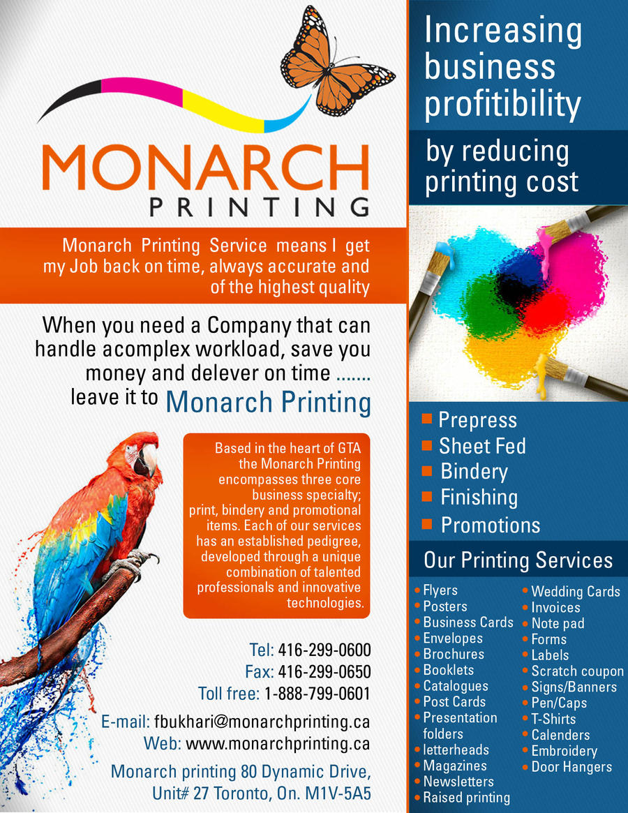 Monarch printing flyer by aa3 on DeviantArt