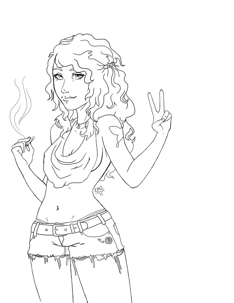 hippie coloring pages - photo#25