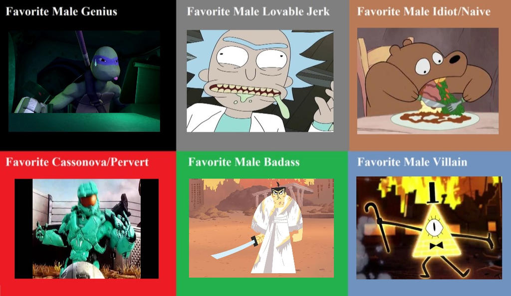 Favorite Male Characters by RaccoonBro