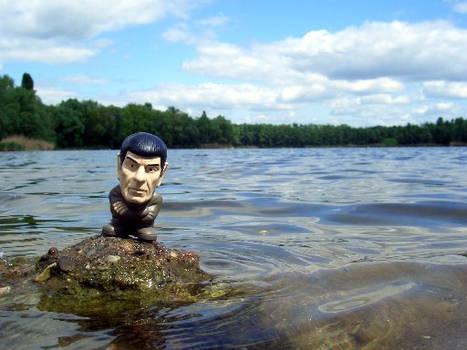 Spocky on the rocks. :D