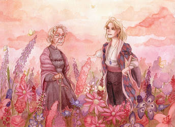Howl's Flower Field by theGrayStray