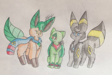 Navi, Colby, and Crystal -Commission-  by Starry-the-Jolteon