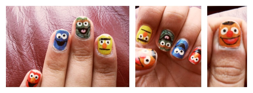 Sesame Street Nail Art By Skythestral15460 On Deviantart