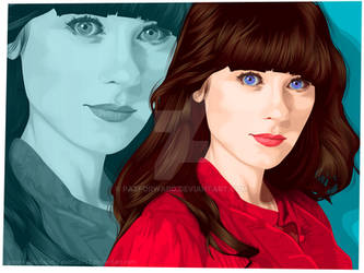 portrait of zooey by pazforward
