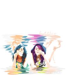 bubbles, colors, siamese love by pazforward