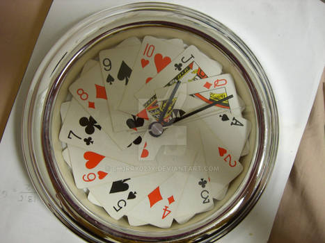 cards clock