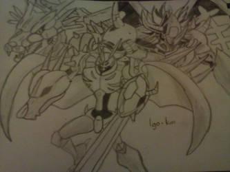 Omegamon WarGreymon Y MetalGarurumon ~ Digimon 01 by Igo-Kun