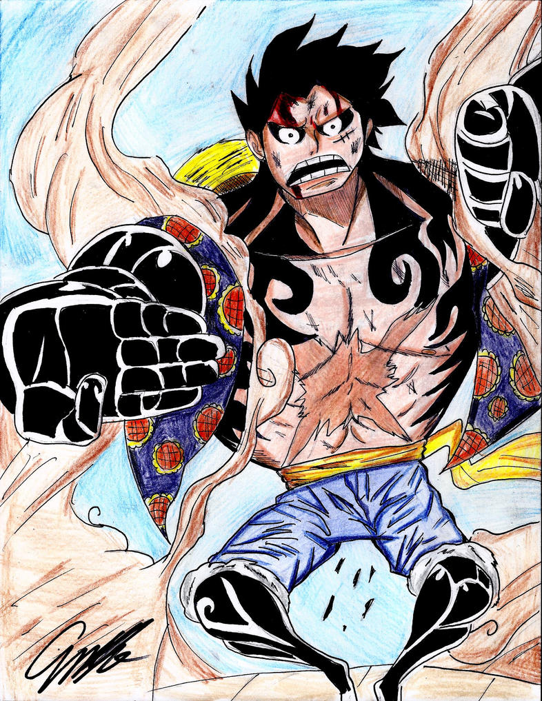 Monkey D.Luffy GEAR FOURTH!!!! by dulest9494
