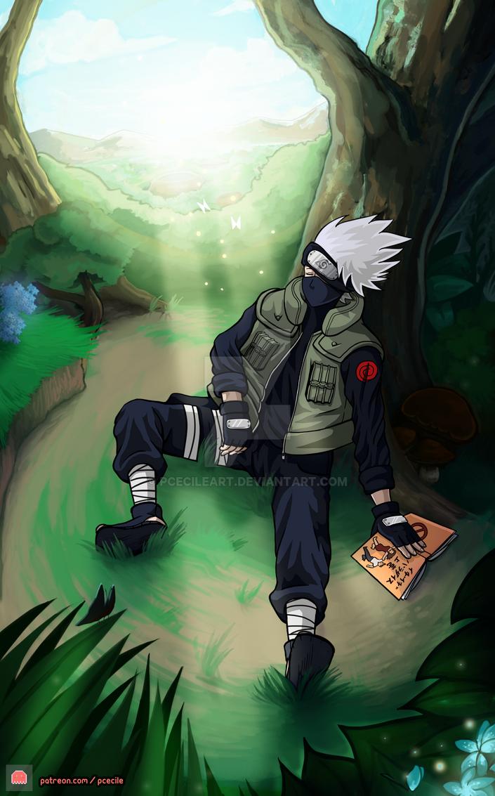 Image result for kakashi reading