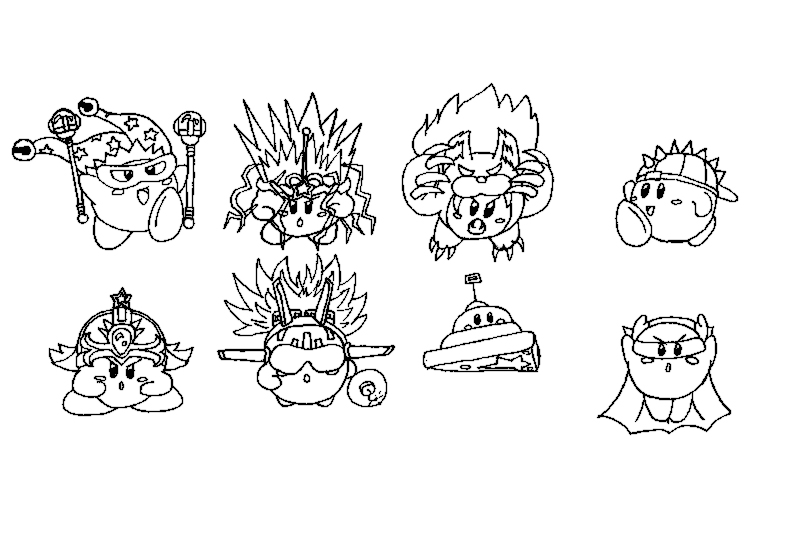 Concept art kood kirby 39 s compound abilities 2 2 by for Nintendo kirby coloring pages to print