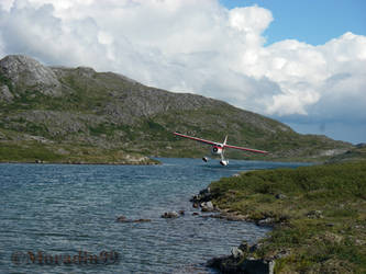 Float plane landing by Moradin99