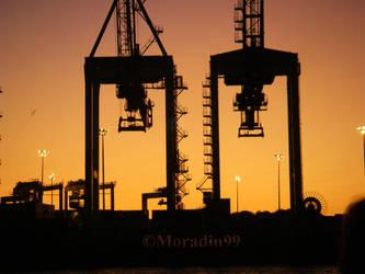 Port de Montreal - Grues de chargement by Moradin99
