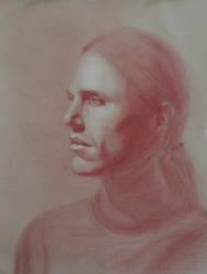 Male Head Study by Maciesowicz