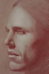 Male Head Study Detail by Maciesowicz