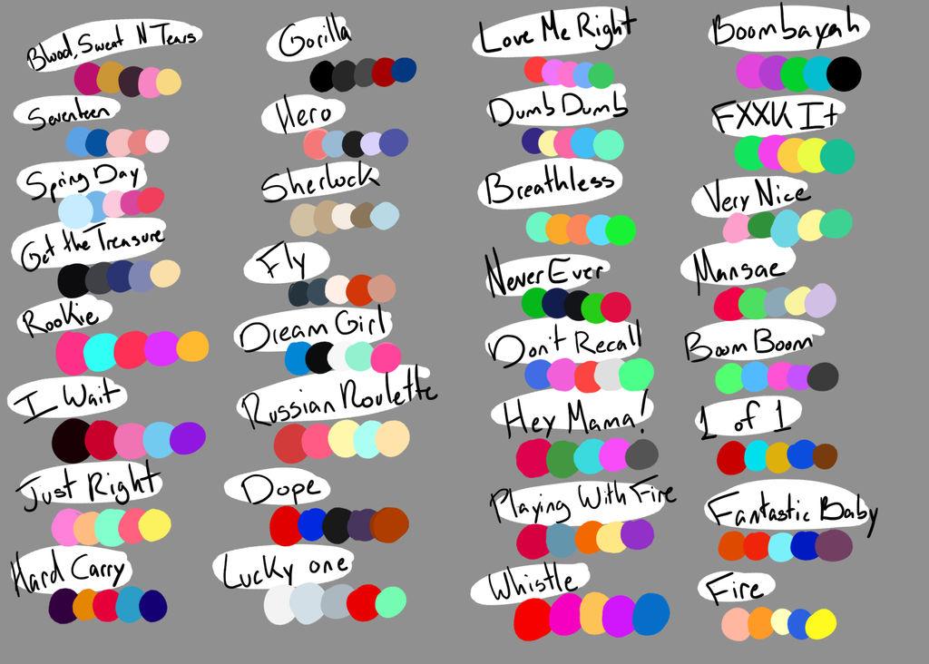 Kpop Color Schemes Palette Challenge By Nic The Sweg On Deviantart