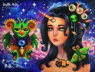 Space Unicorn girl by UrithArte
