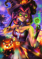 Bewitching Janna - League of Legends by UrithArte