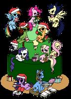 Merry Ponymas by nya-nannu