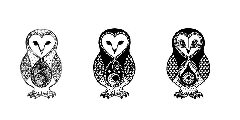 Barn Owl Tattoo Sketch 9054 Loadtve