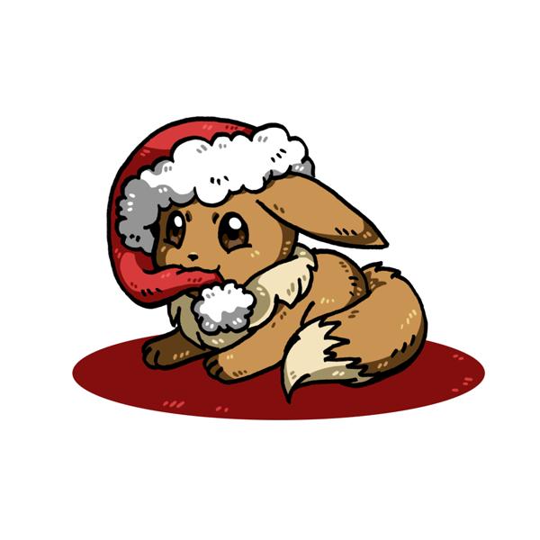 Christmas Eevee.Christmas Eevee By Nya Nannu On Deviantart