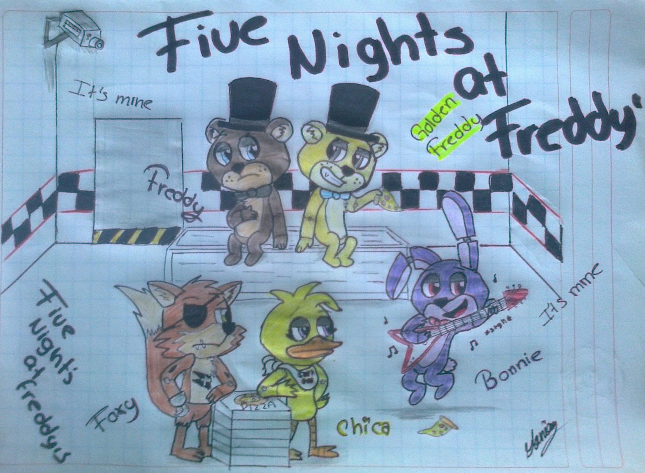 Five Nights At Freddy S Dibujo De Foxy Y Mangle Buscar Viewletterco