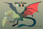 Green Turaco Wyvian [AUCTION CLOSED] by Libertades