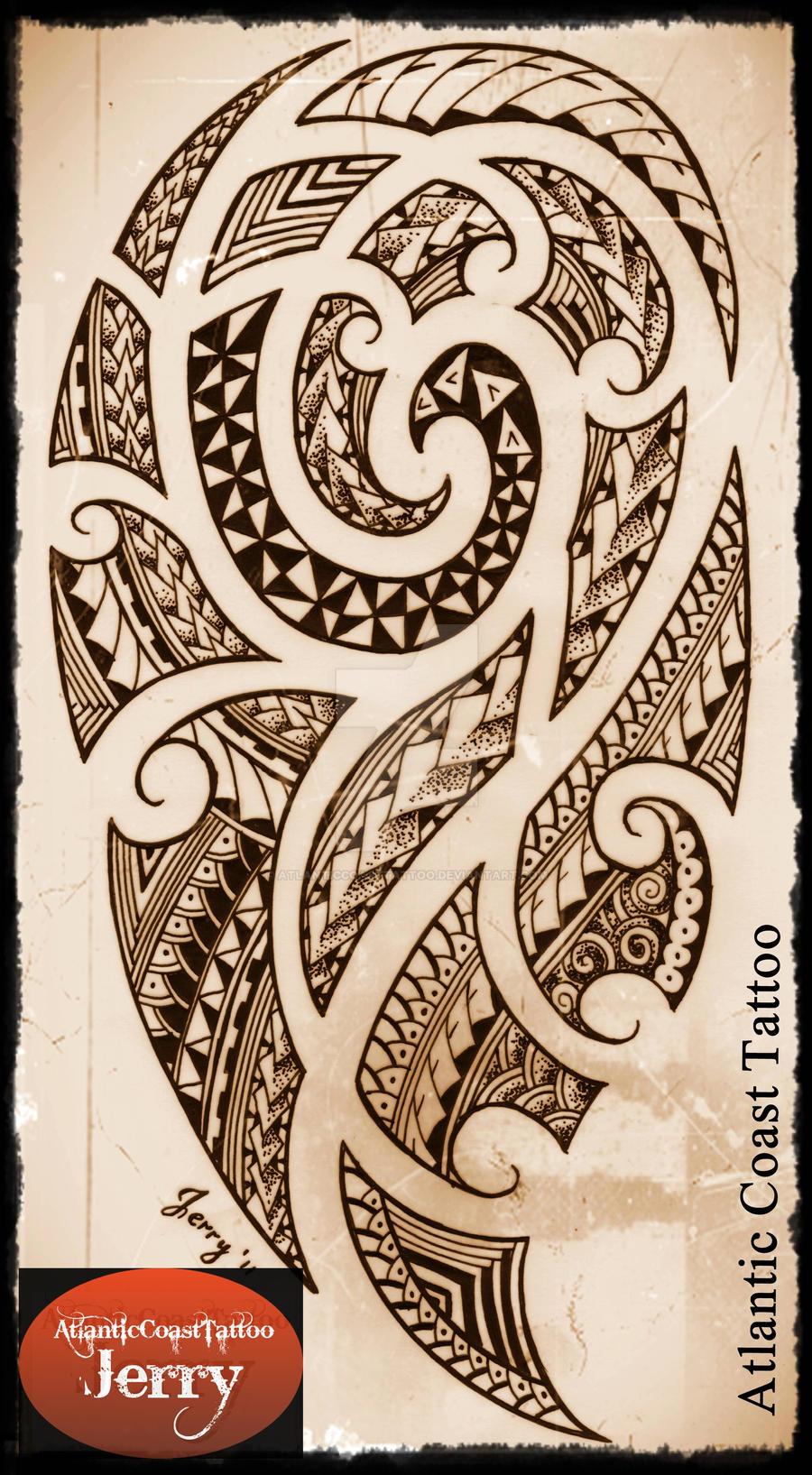 Polynesian Maori Samoan Tattoo Design Drawing By Atlanticcoasttattoo On Deviantart Tattoo sketch, handmade design over vintage paper. polynesian maori samoan tattoo design