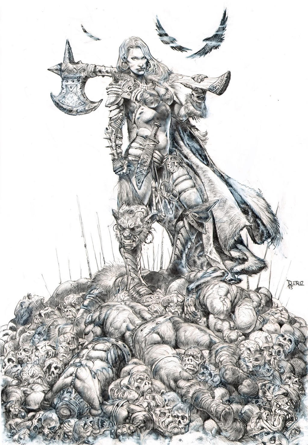 Female Warrior Commission by dannycruz4 on DeviantArt