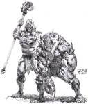 Skeletor and Beastman