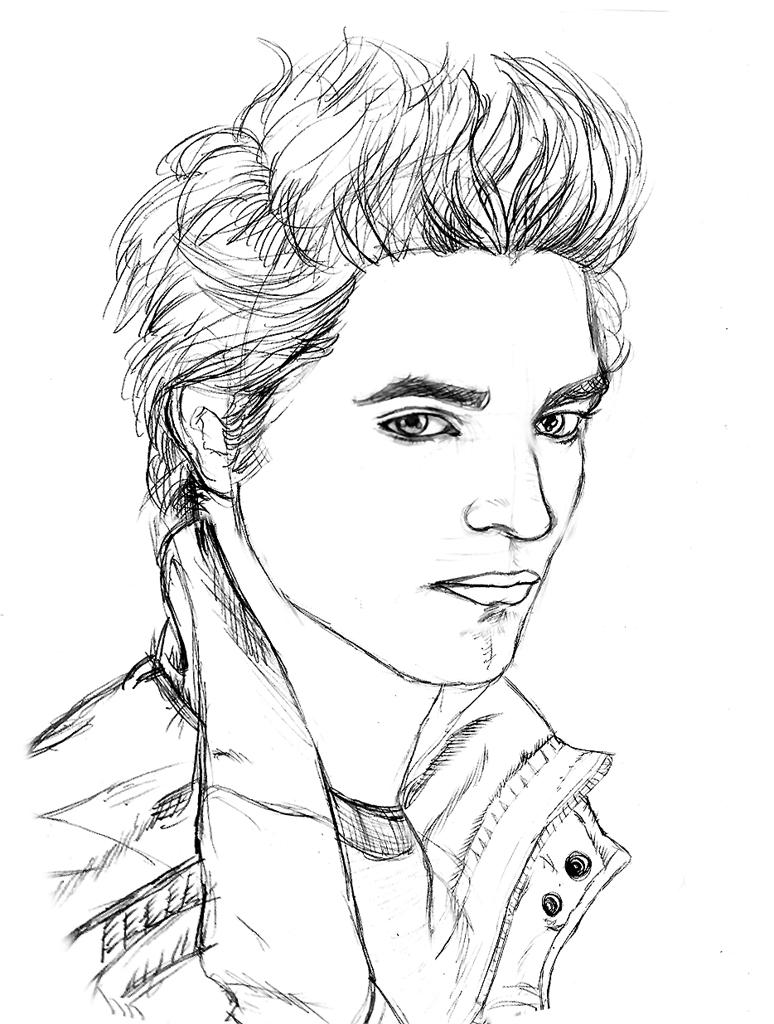 Sketch Edward Cullen By Chronokhalil On Deviantart