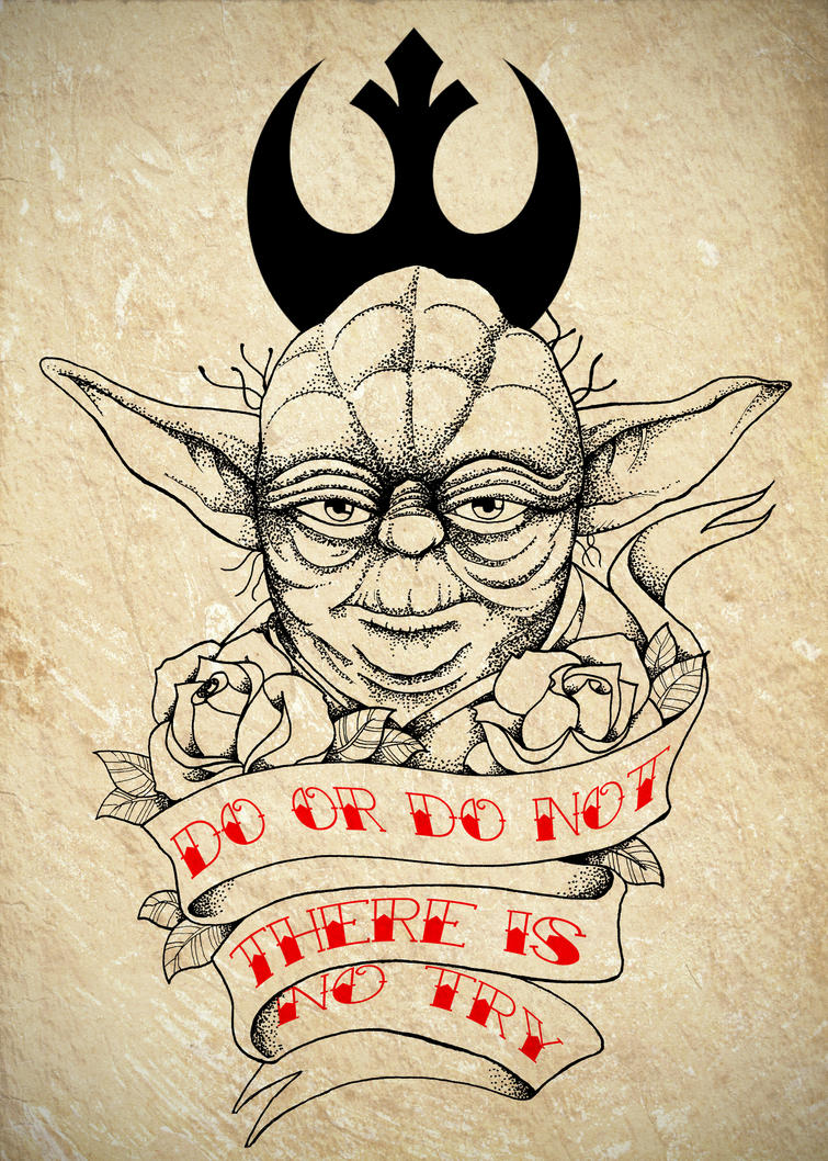 Master Yoda Tattoo Commission by Chronokhalil